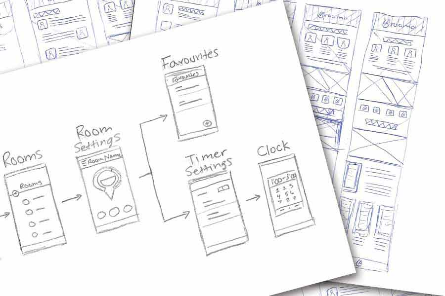 More pencil sketches of both possible app screen layouts and ways in demonstrating my app.