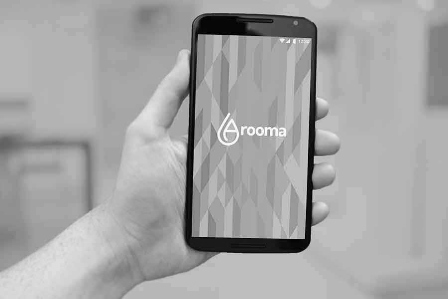 A preview of the Arooma app and user interface, created to bring comfort, relaxation, and simplicity to its users.