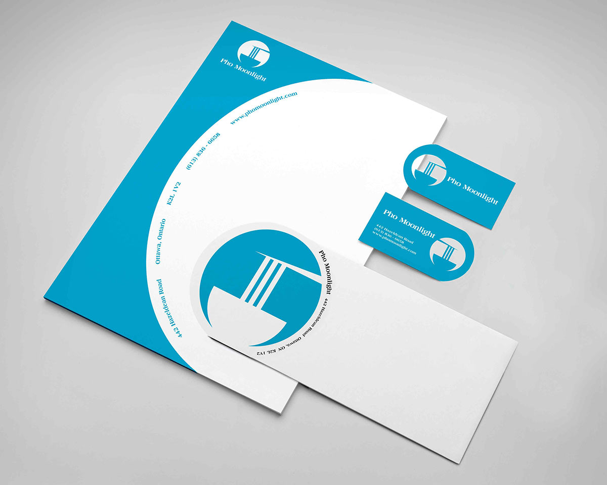 An example of the logo in use, produced on an all new stationary package design.